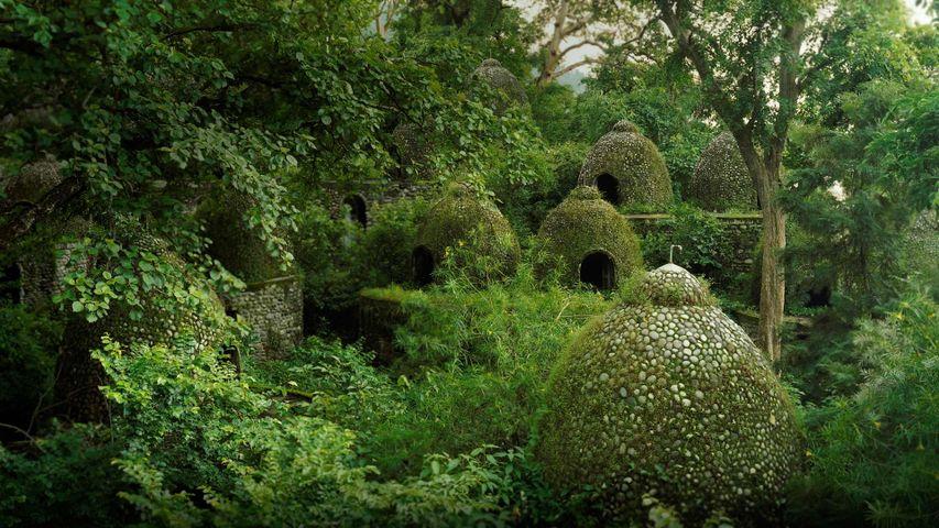 Meditation domes at the Beatles Ashram in Rishikesh, India