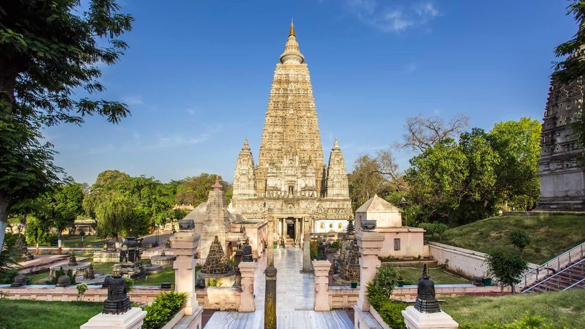 Mahabodhi Temple in Bodh Gaya, Bihar, India
