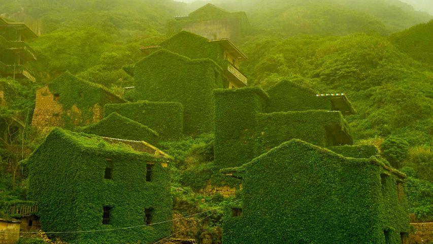 The abandoned village of Houtouwan on Shengshan Island, China