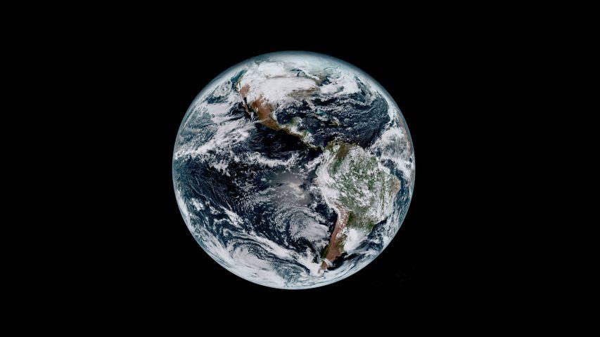 从太空中拍摄到的地球