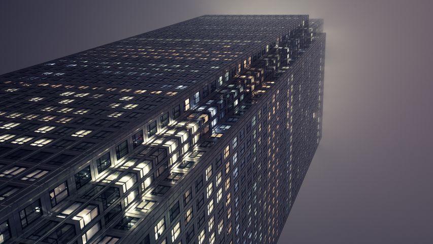 skyscraper building sky city tower architecture shadow