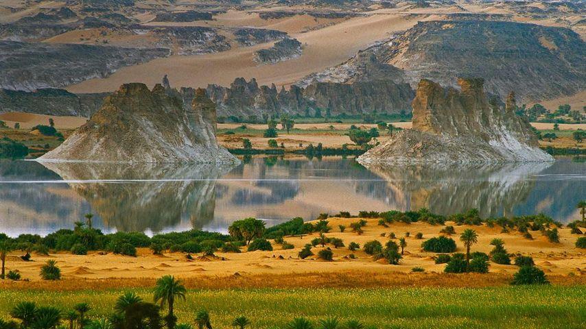 Ounianga Serir Seen im Nord-Tschad