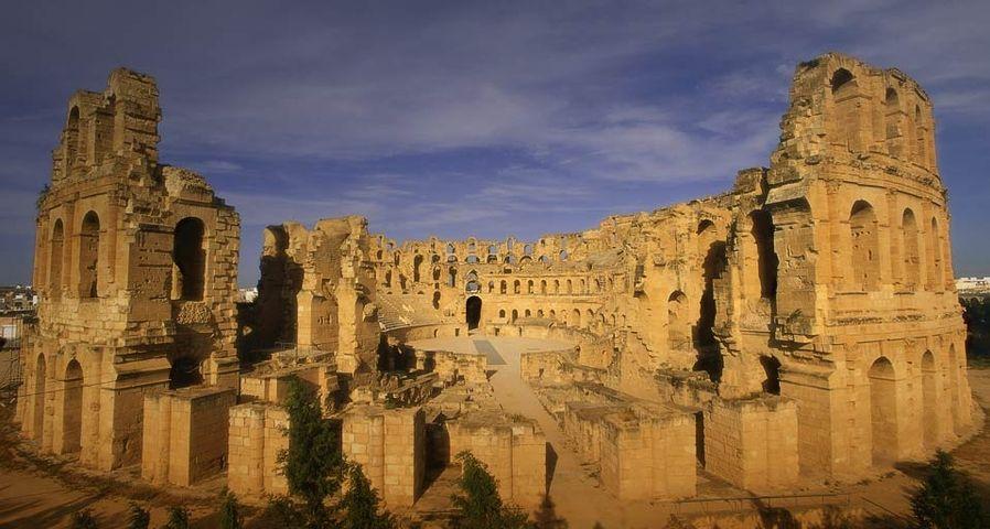 Roman coliseum at El Djem, Tunisia