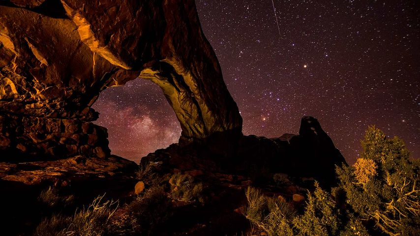 North Window Arch in Arches National Park, Utah