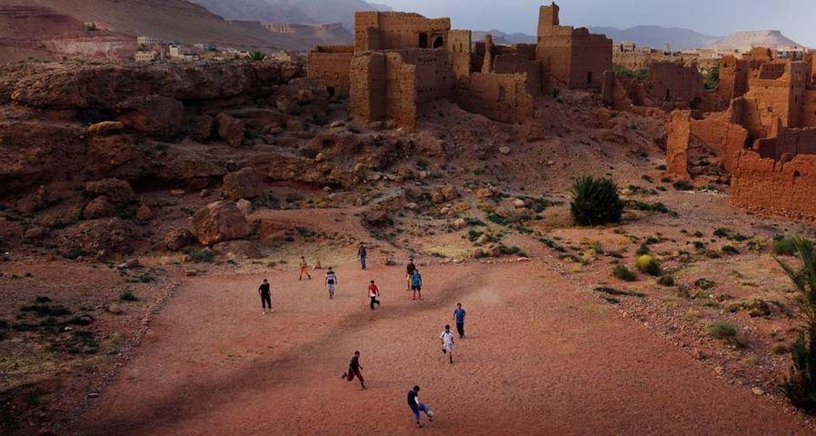 Soccer game in Morocco