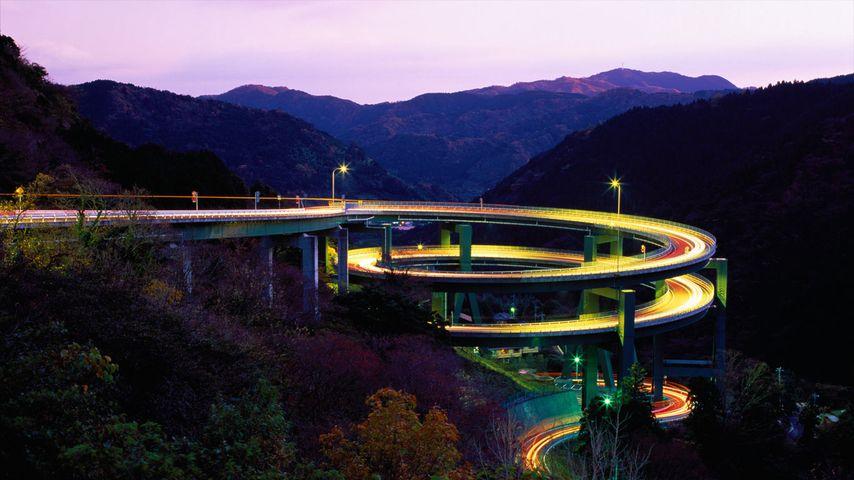 「河津七滝ループ橋」静岡, 河津町