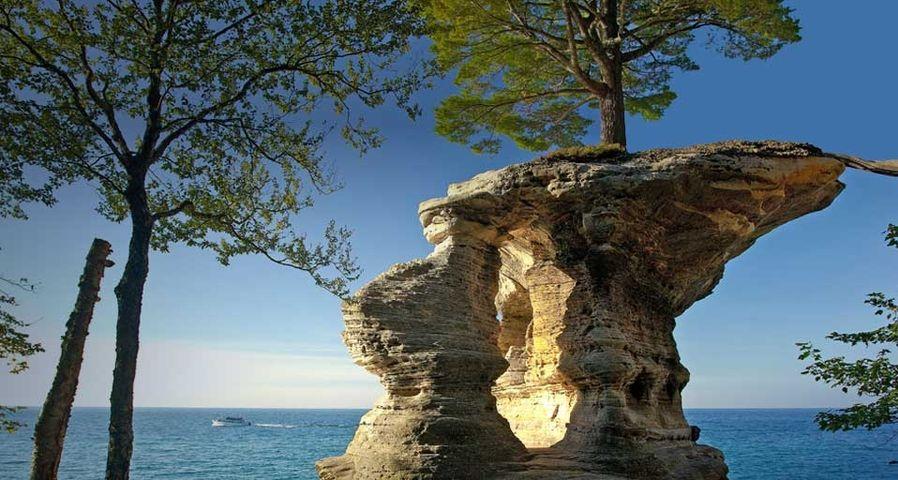 Chapel Rock in Pictured Rocks National Lakeshore, Michigan