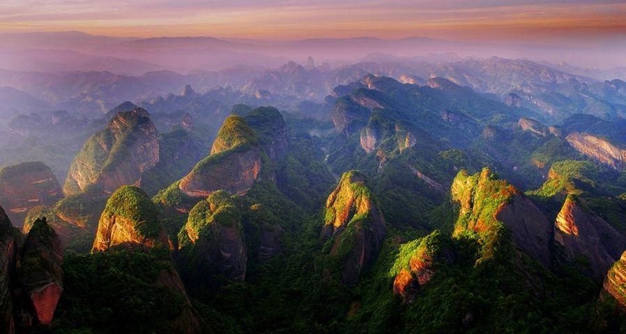 湖南崀山日落美景