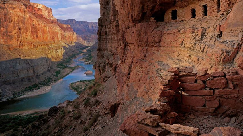 The Nankoweap Granaries of the Grand Canyon in Arizona