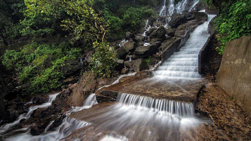 Amboli Waterfalls in Maharashtra, India