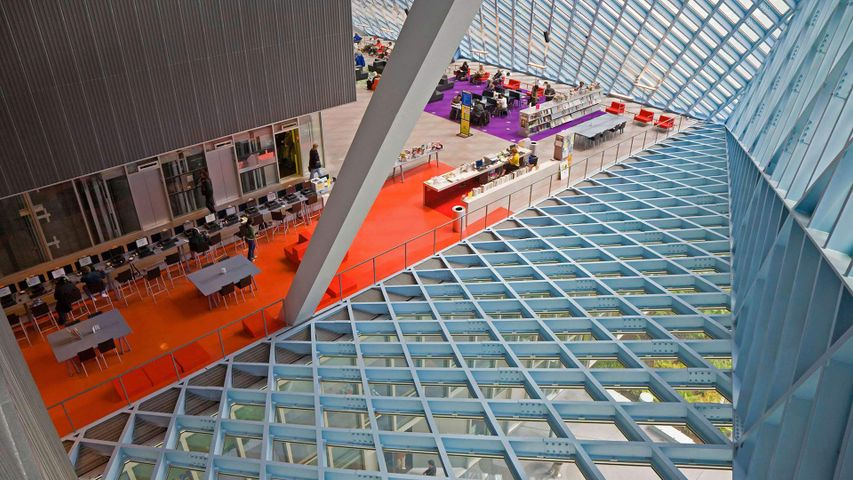 Interior of Seattle Public Library's Central Library