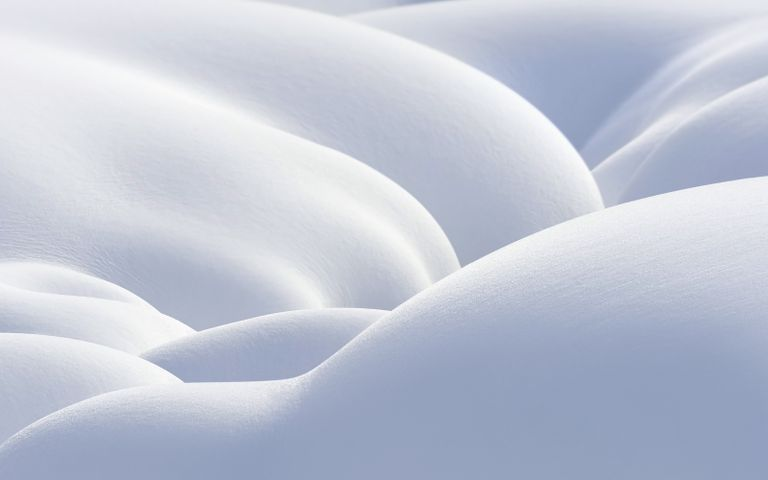 bed nature close abstract curve winter pattern