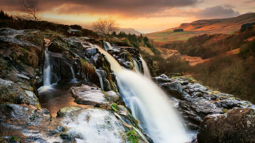 Loup of Fintry waterfall on the River Endrick, Scotland
