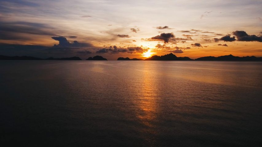 View of Bacuit Bay from El Nido, Palawan, Philippines