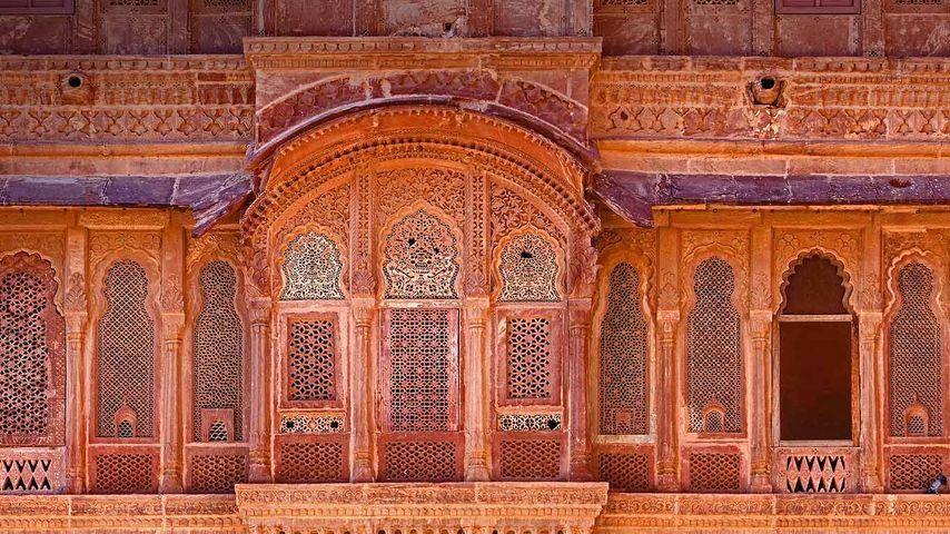 梅兰加尔古堡的外观,焦特布尔,印度
