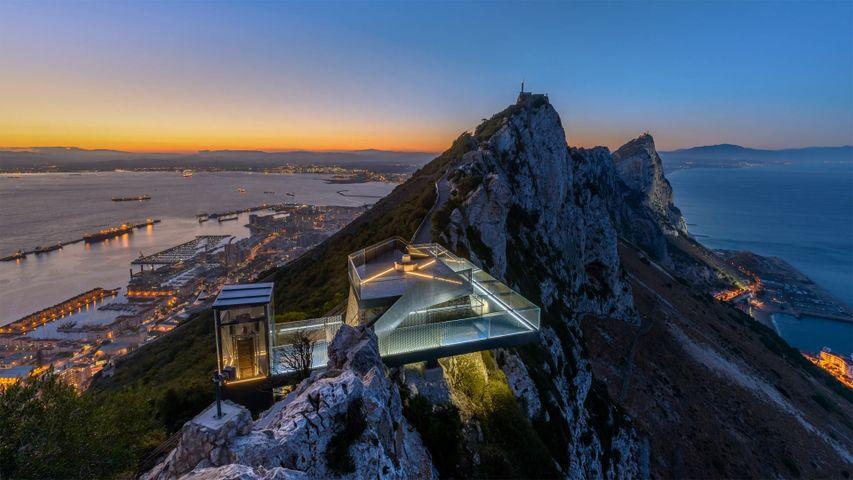 Le Skywalk sur le Rocher de Gibraltar