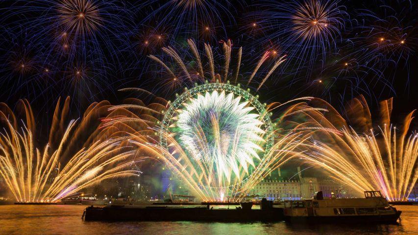 Silvesterfeuerwerk in London