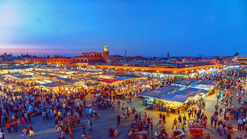 Jemaa el-Fnaa Square in Marrakesh, Morocco