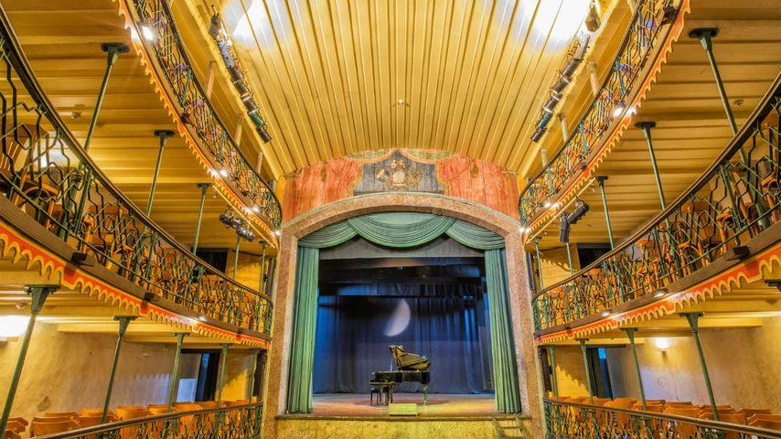 """Das älteste in Betrieb befindliche Opernhaus Lateinamerikas: """"Teatro Municipal"""", Ouro Preto, Minas Gerais, Brasilien"""