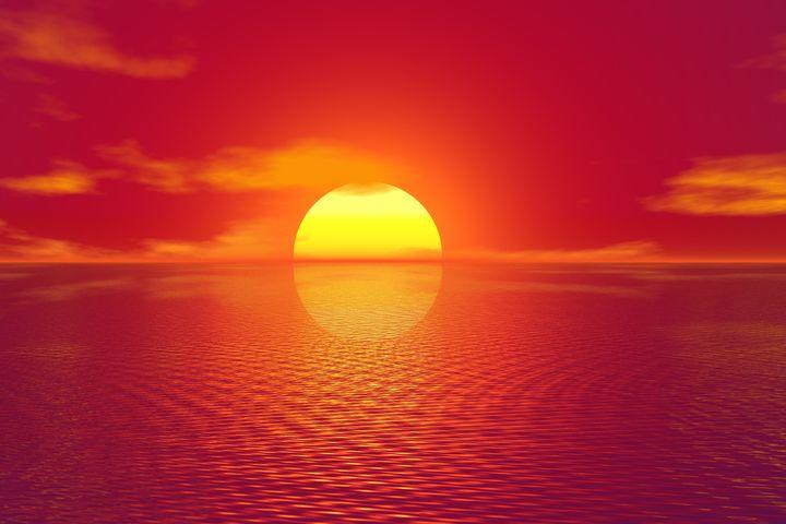 water outdoor sunset sky sun lake cloud sunrise
