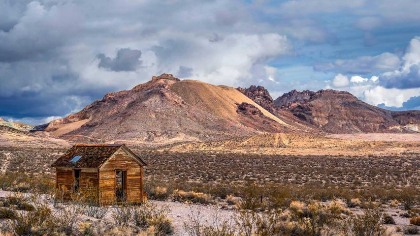 Rhyolite, a ghost town near Beatty, Nevada