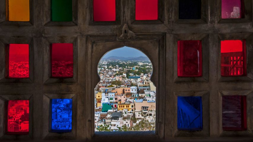 View from the City Palace, Udaipur, Rajasthan, India