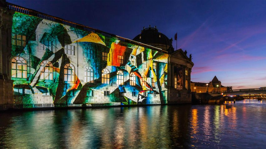 The Bode Museum during the Festival of Lights