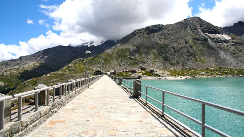sky mountain outdoor water lake travel cloud bridge