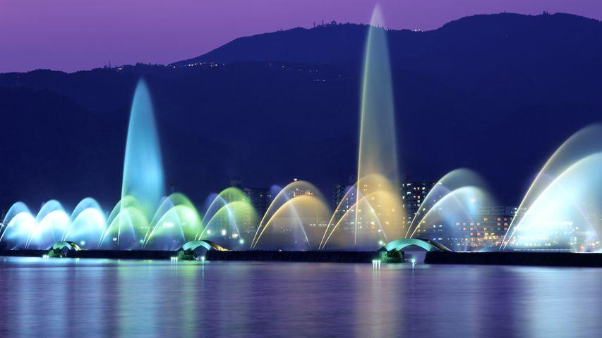 「びわこ花噴水」滋賀, 琵琶湖