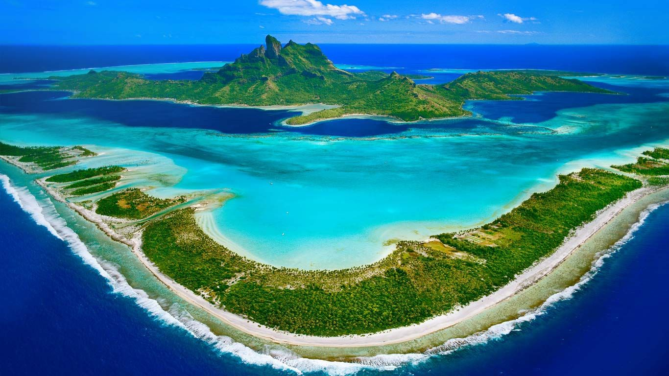 Bora Bora in the Leeward Islands of French Polynesia