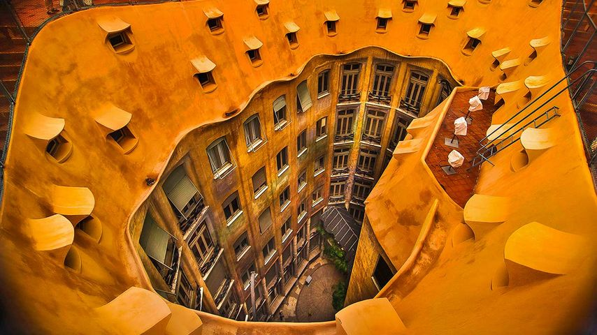 Casa Milà à Barcelone, Espagne