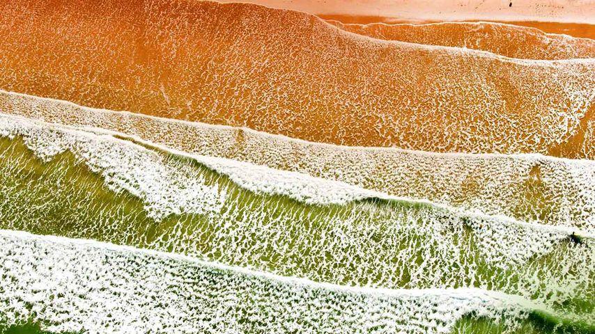 鸟瞰法国卢瓦尔河地区旺代省的滨海布雷蒂尼奥勒