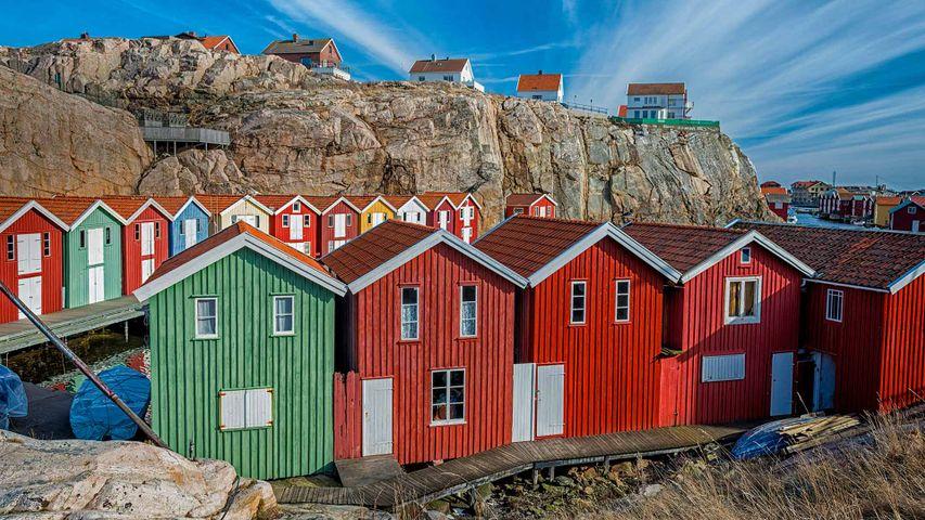 Casas de pescadores en Smögen, Suecia