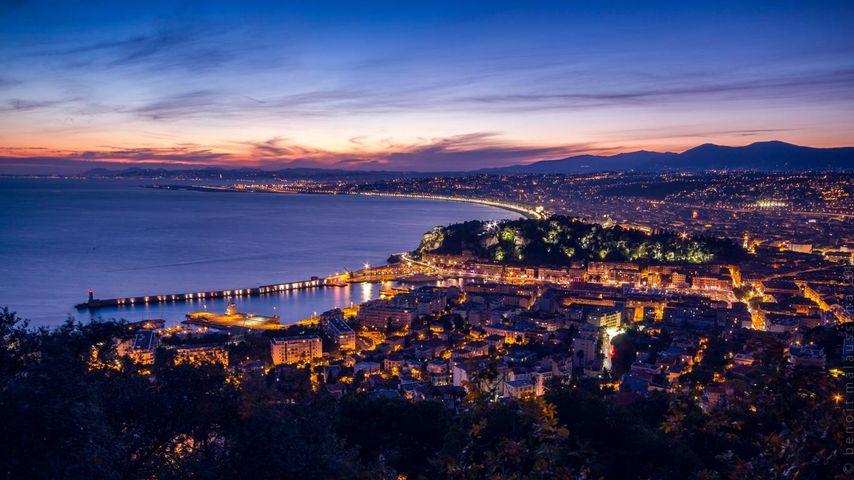 Baie des Anges à Nice, Alpes-Maritimes