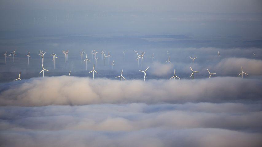 「風力発電のタービン」ドイツ, ザウアーラント