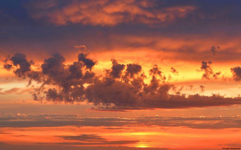 sunset sky outdoor cloud plane setting sun clouds