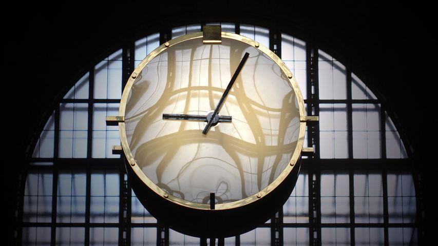 Clock in Union Station, Toronto, Canada