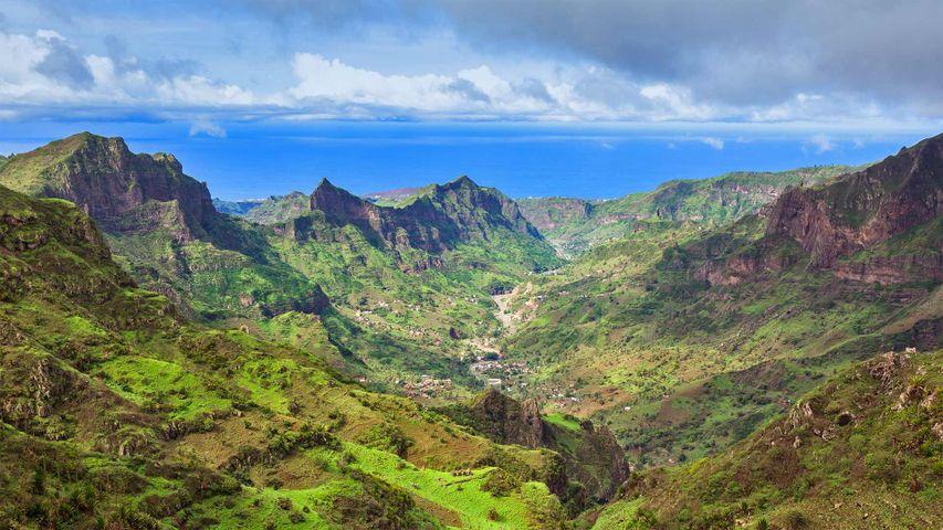 Serra da Malagueta mountains on Santiago Island, Cabo Verde