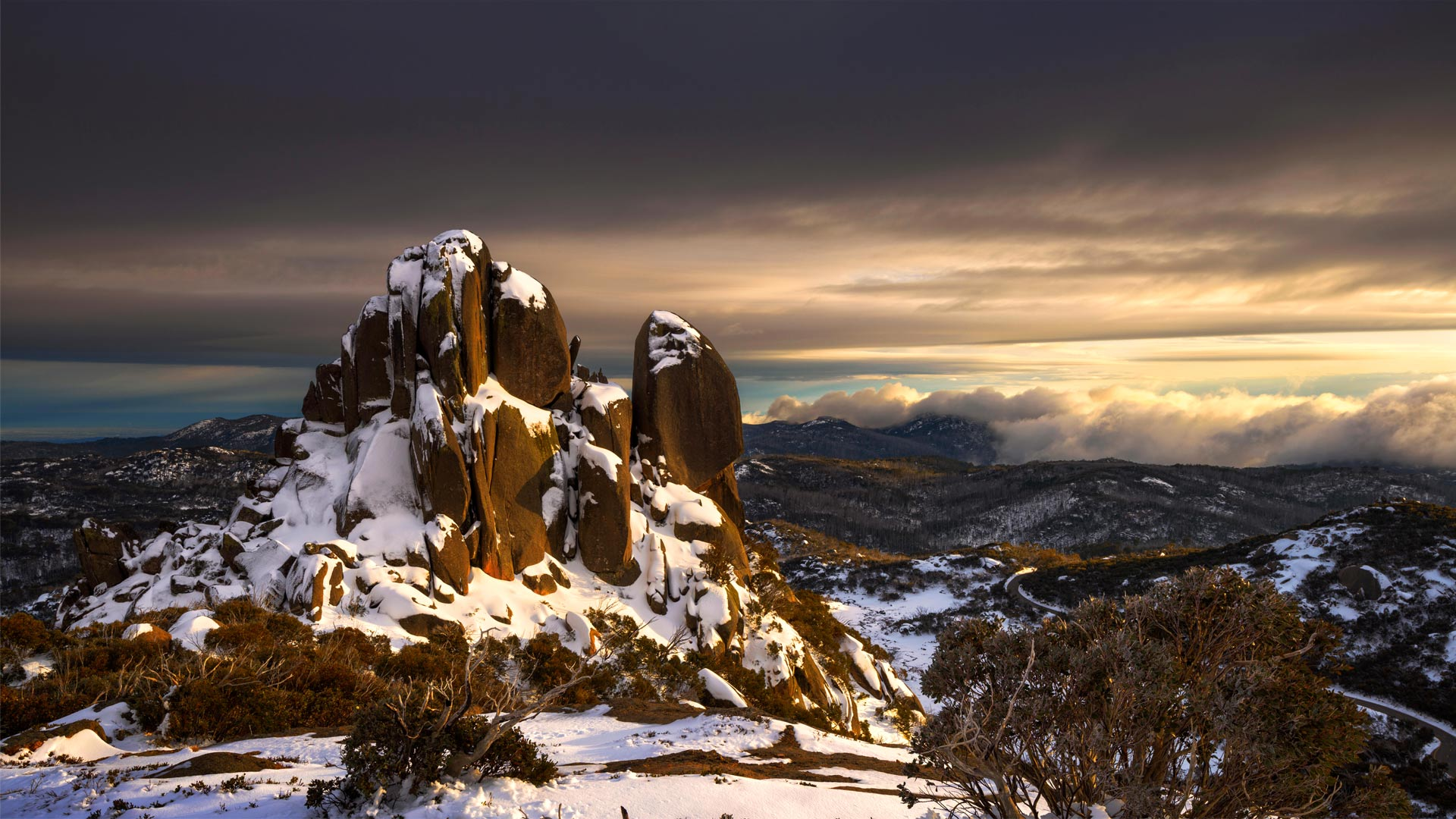 The Cathedral On A Stormy Morning Mount Buffalo