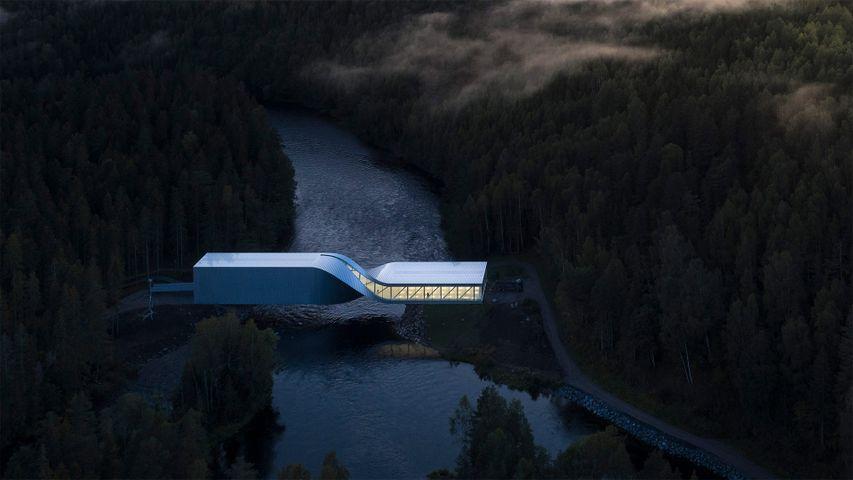 """El puente """"The twist"""" en el Museo Kistefos, Noruega"""