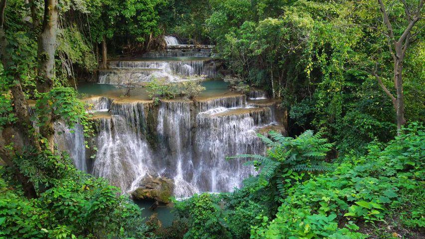 Huay Mae Khamin waterfall in Khuean Srinagarindra National Park, Thailand