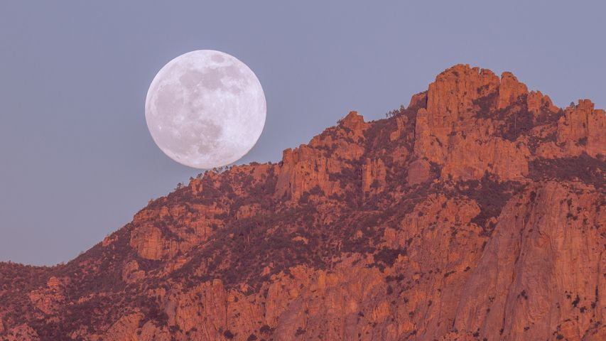 mountain moon valley nature sky canyon