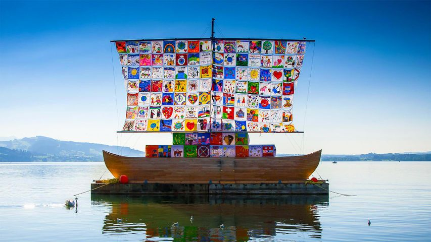 The Ship of Tolerance, an international art installation in Zug, Switzerland
