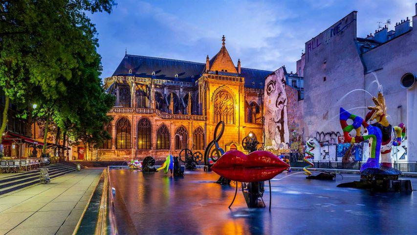 Fontaine Stravinsky à Paris, France