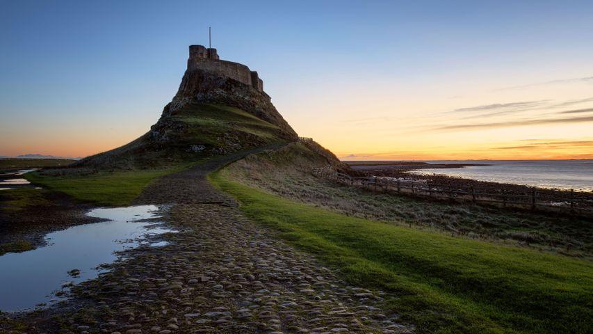 Lindisfarne Castle at dawn, Northumberland