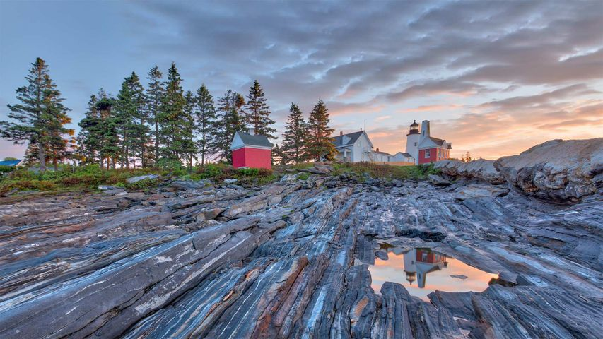 Pemaquid Point Light in Maine's Damariscotta region