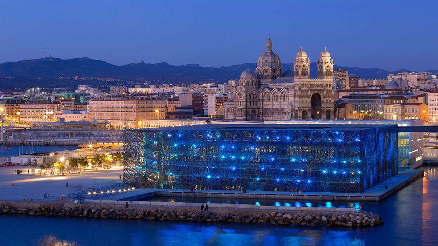 Le Mucem, le Musée des Civilisations de l'Europe et de la Méditerranée, pour la Nuit des Musées, Marseille, France