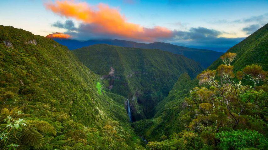 Trou de Fer dans le Piton des Neiges sur l'île de la Réunion à l'occasion de la fête réunionnaise de la liberté