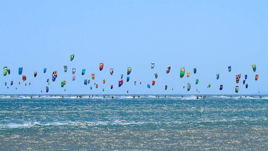 Course de Kitesurf, Gruissan, Aude, Occitanie