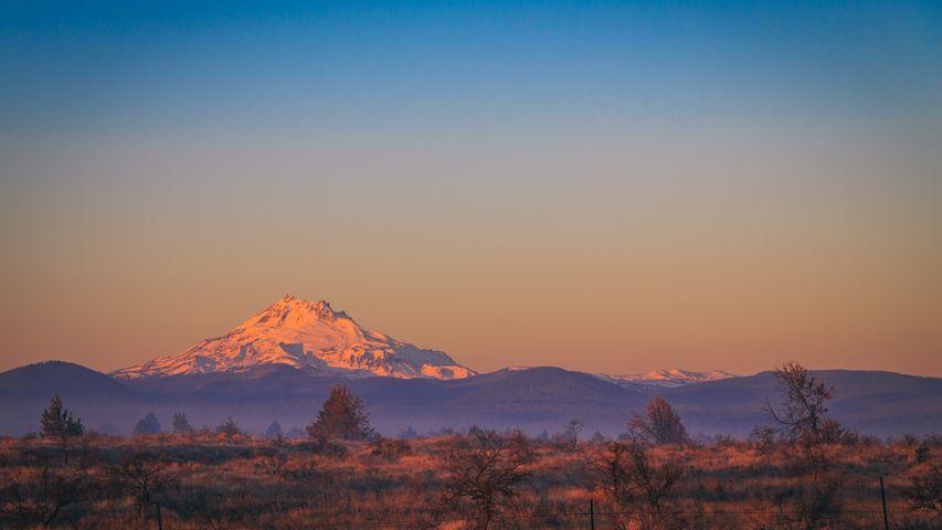 outdoor sky landscape mountain snow tree sunrise sunset